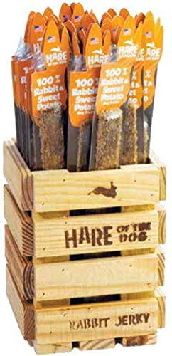 Hare Of The Dog 100% Rabbit Jerky & Sweet Potato Stick - All Natural, Grain Free Dog Treat, Limited Ingredients, Usa Made