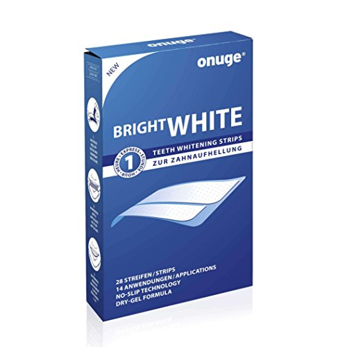 onuge Bright White-Strips, 28 Bleaching-Stripes zur Zahnaufhellung in 14 Tagen