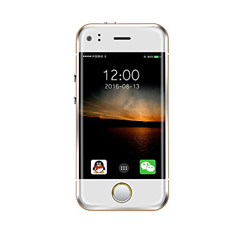 """Eachbid The Smallest Smartphone in the World, ANDROID UNLOCKED 2.4"""" GSM SMARTPHONE with 2MP Camera and 4GB of Storage Gold"""
