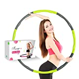 Liberry Weighted Hula Hoop for adults: Fun Exercise For Weight Loss, Slim Waist And Strong Abs,Soft Foam Padding For Comfort And Protection(Green)
