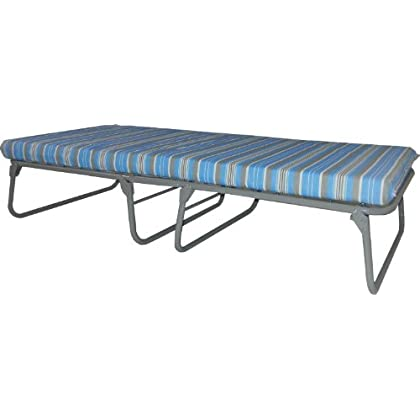 Image of Blantex Heavy Duty Steel Folding Bed with Mat, 3-3/16-Inch