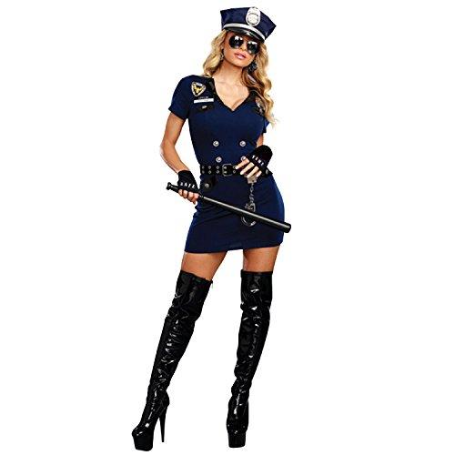 Dreamgirl Women's Officer Pat U. Down, Blue, XL]()