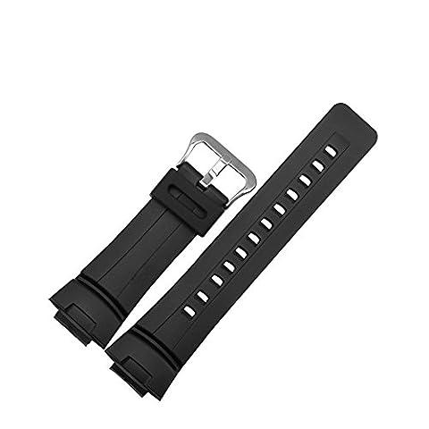 Meijunter Resin Watch Band for Casio G-2300F-4 G-2310R-1 GW-2310-1/FB-1 G-100-1B/101-1AV (The Hundreds G Shock)