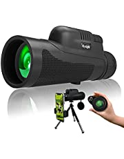 12X50 Monocular Telescope,HD High Power Dual Focus Scope,Waterproof BAK4 FMC Prism Telescope for Adults,Low Night Vision for Hunting Bird Watching Camping Outdoor Hiking