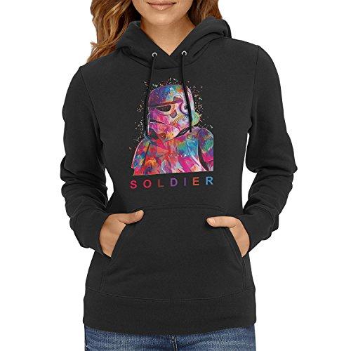 TEXLAB - Soldier - Damen Kapuzenpullover, Größe L, schwarz