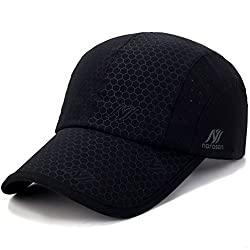 Sport Cap Soft Brim Lightweight Waterproof Running Hat Breathable Baseball Cap Quick Dry Sport Caps Cooling Portable Sun Hats For Men And Woman Performance Cloth Workouts And Outdoor Activities Black