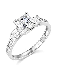 14k Yellow OR White Gold SOLID Wedding Engagement Ring
