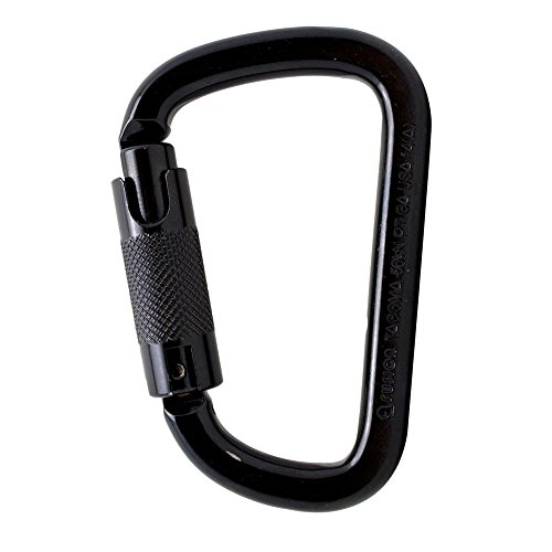 Fusion Climb Tacoma Steel Triple Lock with Key Nose Modified D-shaped Carabiner Black