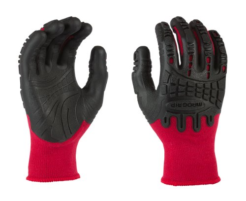 Mad Grip F50 Thunderdome Impact Gloves, Red/Black, Large