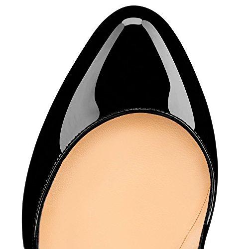 Monicoco Monicoco Plataforma Plataforma Mujer Schwarz Lackleder Mujer xTOwgwdPq