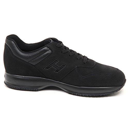 Hogan E0540 Sneaker Uomo Nero Interactive H Rete Shoe Man