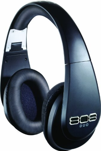 808 DUO Wireless and Wired Precision-Tuned Over-Ear Headphones - Matte (Audiovox Rechargeable Battery)