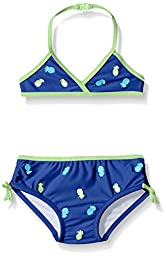 Tommy Bahama Girls\' Infant Pineapple Two Piece Bikini Swimsuit, Navy, 12 Months