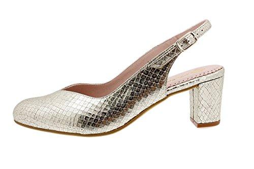 180229 Zapato Nude Confort Grabado Platino Piesanto Salón Serpiente wE17qW