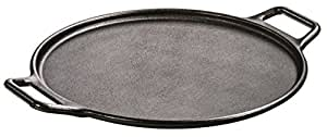Lodge Pro-Logic P14P3 Cast Iron Pizza Pan, Black, 14-inch