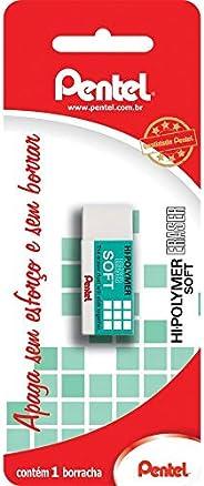 Borracha Hi-Polymer Eraser Soft, Pentel, SM/ZES-05E, Branco, Pequena