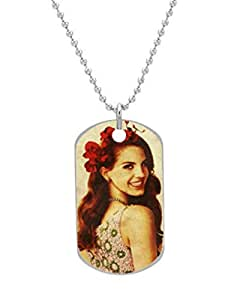 Lana - Lana Del Rey Dog Tag Custom Photo Dimensions: 1.2 x 2 X 0.1 inches with 30