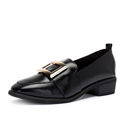 PUMPS Damenschuhe,Grob Heel Set Foot Square Head Shoes A