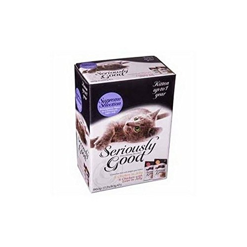 Seriously Good Kitten Supreme Selection in Jelly Multipack 12x80g Cat Food (960g) (Pack of 2) on sale