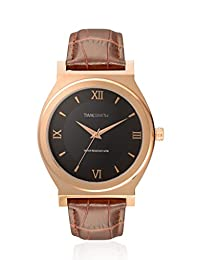 TimeSmith Limited Edition Black Dial Brown Genuine Leather Rose Gold Watch for Men TSM-099