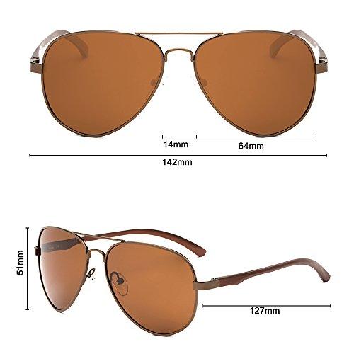 Sol Protección Polarizadas Mujer UV C Aviator para 400 Gafas De Hombre para A 5q8xCnfw