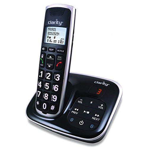 Clarity Amplified Bluetooth Cordless Phone with Answering Machine ()
