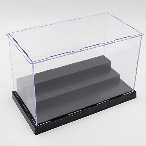 Nokere Acrylic 3 Steps Display Case for Collectibles and Action Figures Toy Showcase Gifts for Children 8.9 x 4.9 x 5.7 inches ()