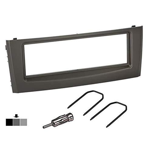 Kit montaggio autoradio per FIAT Grande Punto grigio con mascherina adattatore antenna e chiavi Sound-way
