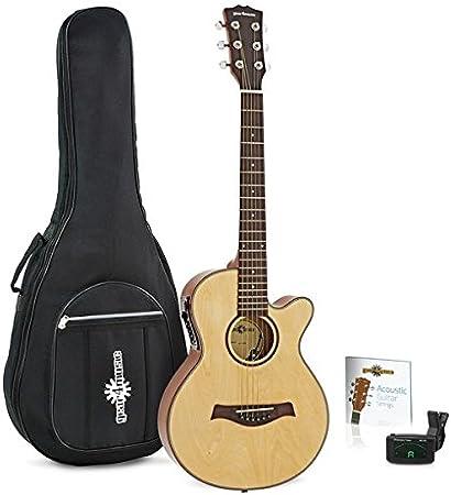 Guitarra Electroacustica Single Cutaway de 3/4 + Pack de Accesorios