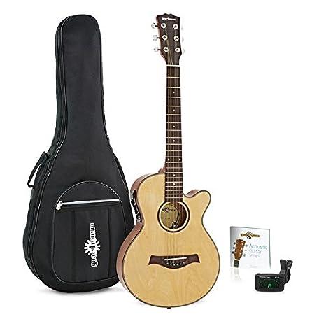 Guitarra Electroacústica Single Cutaway de 3/4 + Pack de Accesorios: Amazon.es: Instrumentos musicales