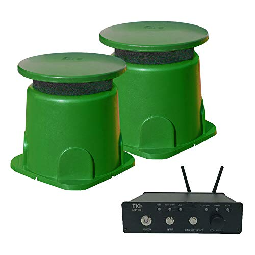 TIC 2 x GS3 Outdoor Omnidirectional In-Ground Speakers with AMP50 100W Outdoor WiFi/Bluetooth Amplifier (Speakers Inground)