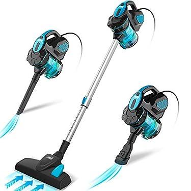 INSE-Aspirador-con-Cable-3-En-1-Vertical-y-de-Mano-Hogar-Escopa-Aspiradora-Poderosa-Succion-18Kpa-600W-1L-Hepa-Filtro-Lavable-3-Cepillos-Ajustable-Clase-de-Eficiencia-Energetica-A-Azul