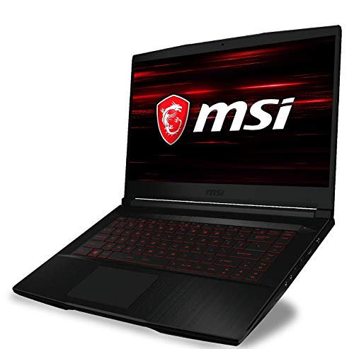 MSI GF63 Thin 10SCSR-655UK - 15.6 Inch Full HD 144 Hz Gaming Laptop, Intel Core i7-10750H, NVIDIA GTX 1650Ti, 8 GB RAM, 256 GB NVMe SSD, Windows 10