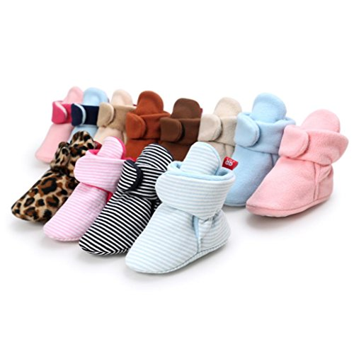 HUHU833 Kinder Mode Baby Stiefel Soft Sole, Schnee Stiefel, Bunt Stiefel, Soft Crib Schuhe Kleinkind Stiefel Warm Schuhe Schwarz