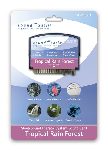 Sound Oasis Sleep Sound Therapy System with Tropical Rain Forest Expansion Sound Card Included