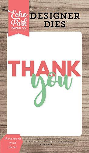 Echo Park Paper Company EPP DIE 721 Thank You #2 Word Die Set (Park Die Cuts)