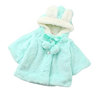 caa6766a0 Amazon.com  Baby Infant Girls Autumn Winter Hooded Coat Cloak Jacket ...