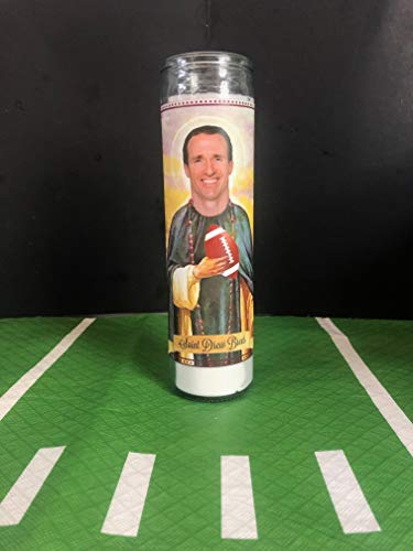 Mose Mary and Me Drew Brees Prayer Saint Candle ()