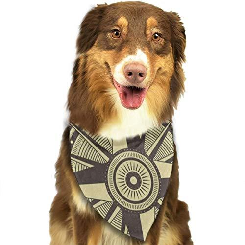 Dog Bandana Vintage Compass Dog Scarf Hot Pet Bibs -