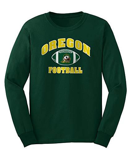 Elite Fan Shop NCAA Men's Oregon Ducks Football Long Sleeve T-shirt Team Color Oregon Ducks Green XX Large