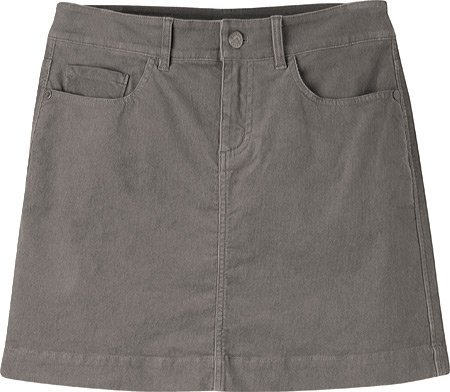 Mountain Khakis Women's Canyon Cord Skirt Slim Fit, Lunar, 10W