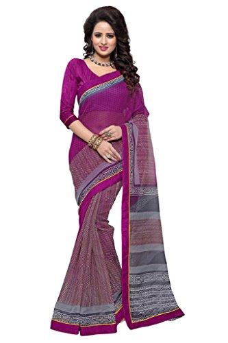 - Mirchi Fashion Women's Art Silk (Super Net) Printed Indian Saree