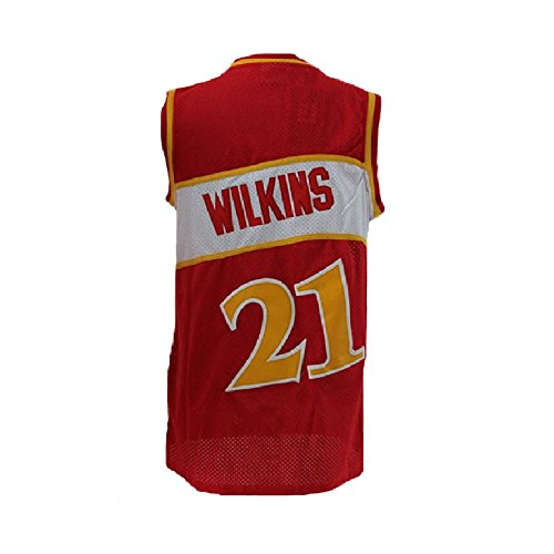 Fotrsta Atlanta 21 Space Moive Jerseys Men's Wilkins Jerseys Dominique Basketball Jersey Red (m)