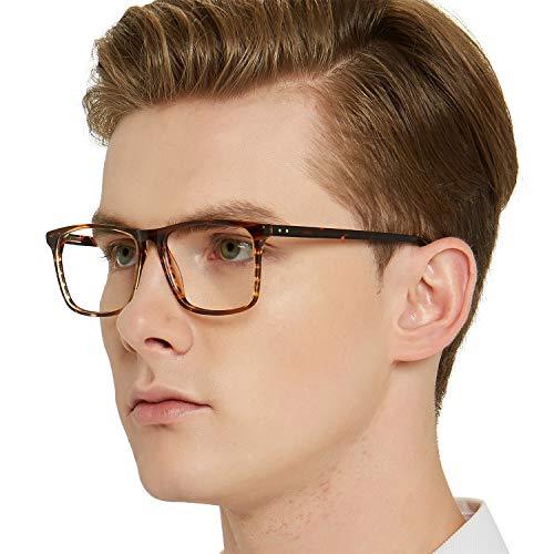 Chiari Estilo Transparentes Montura Lentes Rectangular Gafas Sin Regalos Para tortuga marrón Occi Receta Hombres Con E wXdnAXq