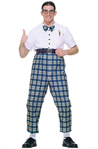 [Geeky School Nerd Adult Costume] (Geeky School Girl Fancy Dress)