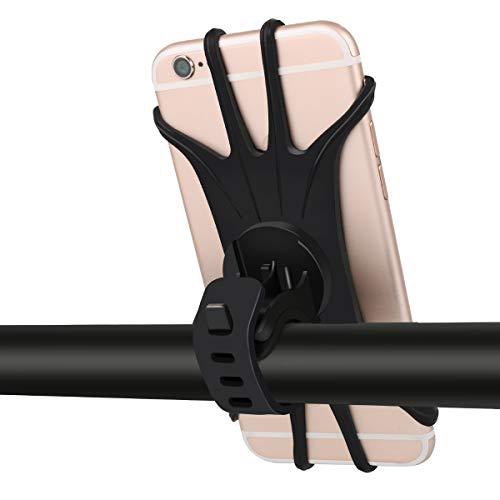 uowlbear Bike Phone Holder, Bicycle Phone Mount Adjustable for iPhone X, 8, 8 Plus, 7, 7 Plus, 6S, 6S Plus, 6, 6 Plus; Galaxy S9, S8, S8 Plus, S7 Plus; Moto G6, X - 360 Degrees Rotatable
