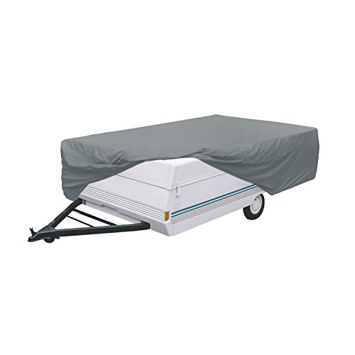 Classic Accessories OverDrive PolyPro 1 Folding Camping Trailer Cover, Fits 16' - 18' Trailers Classic 16' Single Light