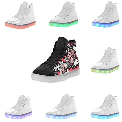 Rentprint Regenboog Oplichtende Dames Schoenen Knipperende Sneakers Dia De Los Muertos Dag Van De Doden