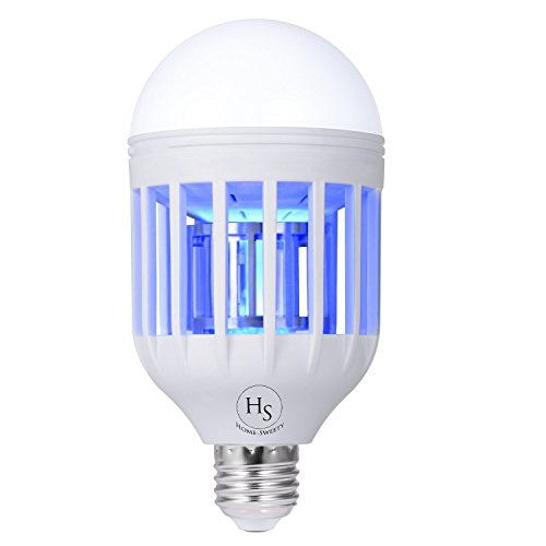 Bug Zapper Light Bulb, Electronic Insect Killer, Mosquito Zapper Lamp, Fly Killer, Built in Insect Trap, 110V E26/E27 Light Bulb Socket Base for Home Indoor Outdoor Garden Patio Backyard by HomeSweety