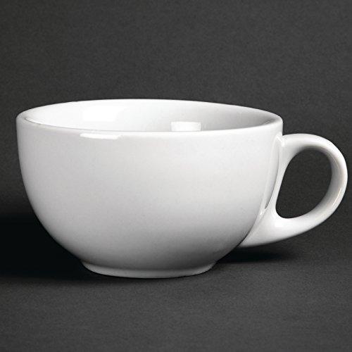 12X Athena Hotelware Cappuccino Cups 10oz 285ml Coffee Espresso Milk Jugs